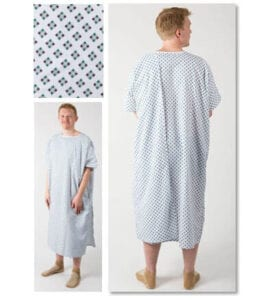 Three arm toga hospital gown