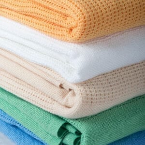 Polyester cellular blankets