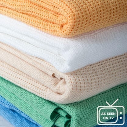 coloured cellular blankets