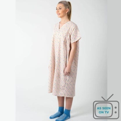 Hospital nightdress closed back as seen on TV