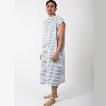 hospital gowns with arm snaps