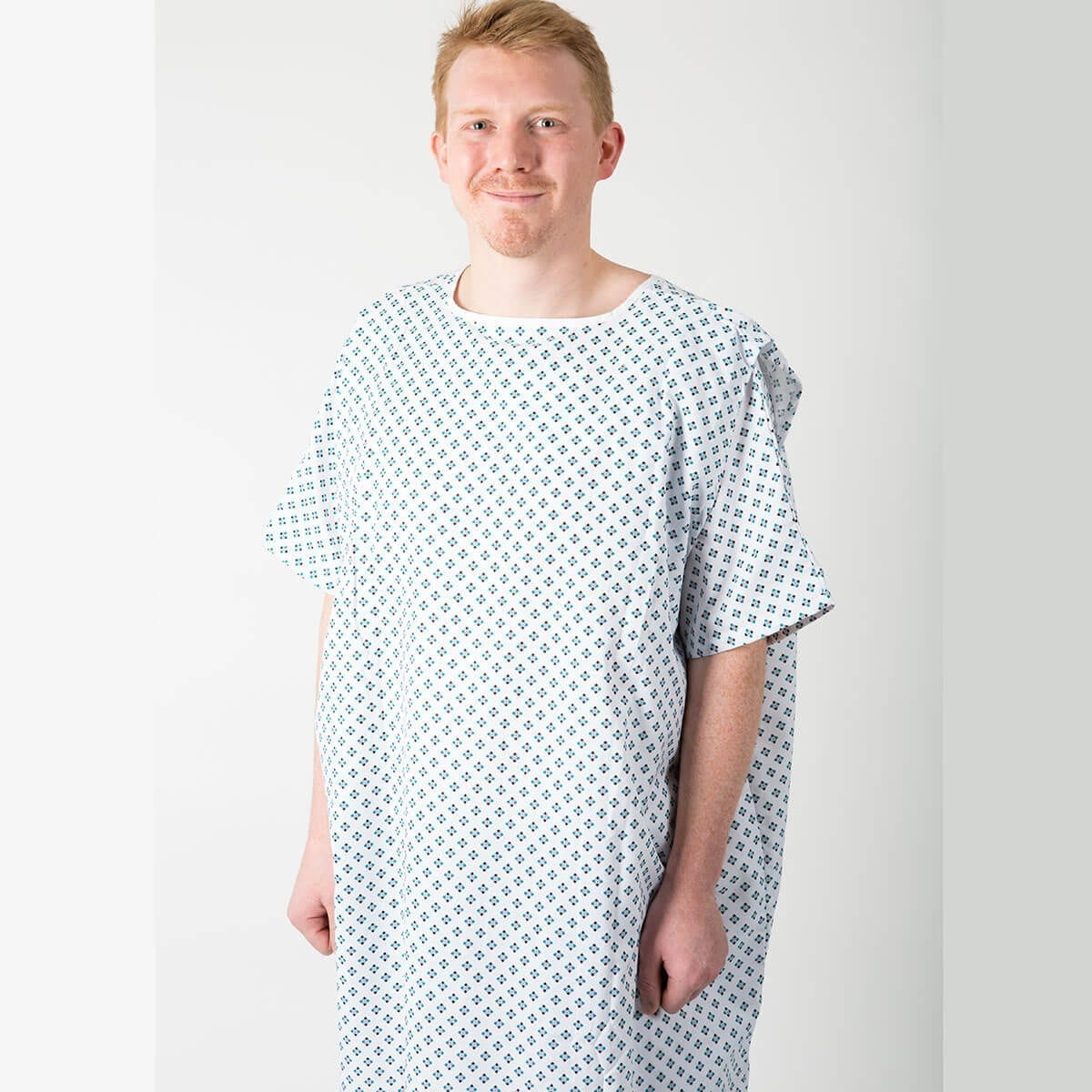 Uniquely designed hospital gown with no ties