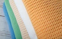 Cellular polyester blankets in 5 colours