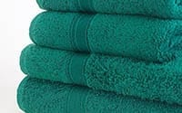 Plain towels available in 15 colours