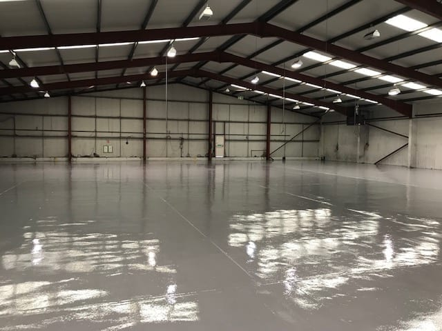 Redesigned warehouse new epoxy paint flooring