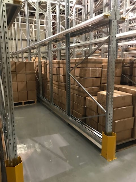 Redesigned warehouse racking