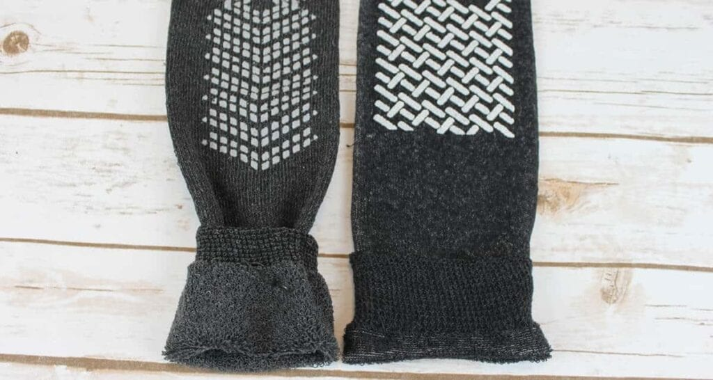 Brand B socks vs Interweave socks