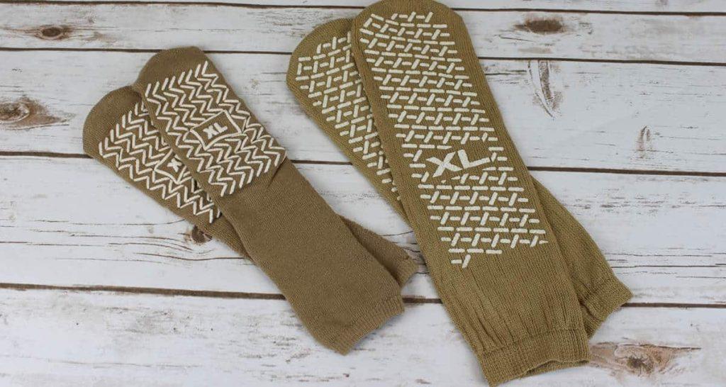 Comparing Brand B socks with Interweave socks