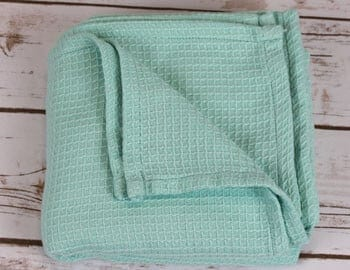 Waffle weave blanket, one of Interweave's first products