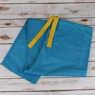 turquoise scrub trousers