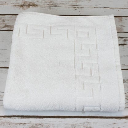 Turkish cotton bath mat