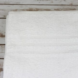 white cotton bath sheets