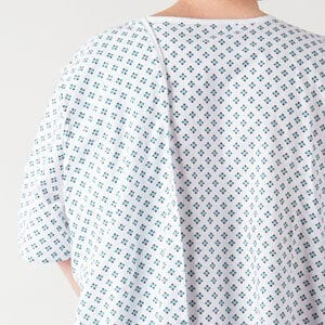 Three arm toga hospital gown design