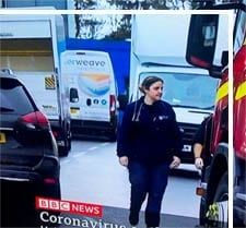 Interweave delivers supplies to the Covid-19 evacuees